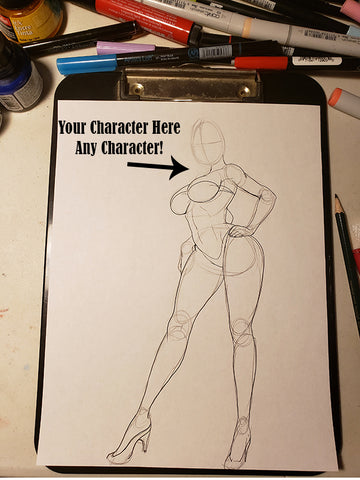 Custom Character Request (Face) in Pose #23-2 Work in Progress Color Original Art