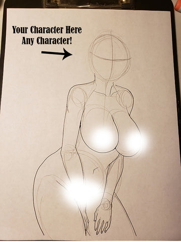 Custom Character Request (Face) in Pose #29 - Work in Progress Color Original Art NDE