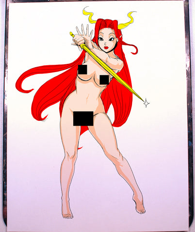 Sword Maiden OC Pinup Comic Art Color Print NDE