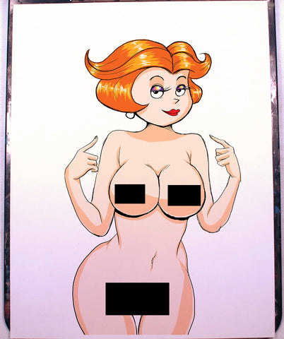 Jane Jetson Pinup Comic Art Color Print NDE