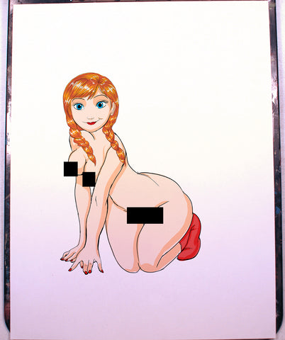 Anna Pinup Comic Art Color Print NDE