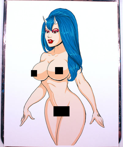 Sinful Suzi Pinup Comic Art Color Print NDE