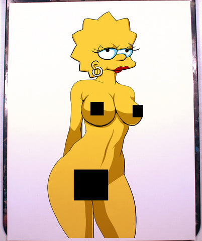 Lisa Simpson Pinup Comic Art Color Print NDE
