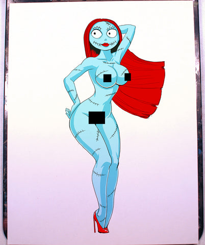 Sally Pinup Comic Art Color Print NDE