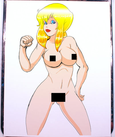 Holli Would Pinup Comic Art Color Print NDE