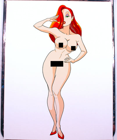 Jessica Rabbit Pinup Comic Art Color Print NDE
