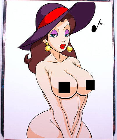 Pauline Pinup Comic Art Color Print NDE