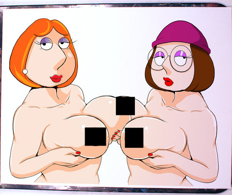 Lois and Meg Pinup Comic Art Color Print NDE