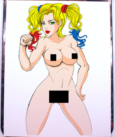 Harley Quinn Pinup Comic Art Color Print NDE