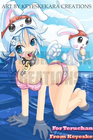 To Teruchan Bunny Girl Oc Anime Manga Comic Art Color Print