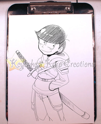 Osomatsu-San Anime Manga Comic Art Ink Print (S0N5)