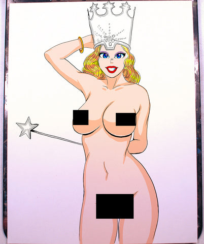 Glinda Pinup Comic Art Color Print NDE