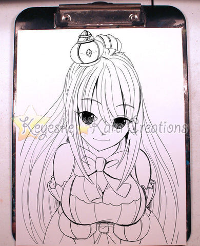 Pretty Girl Oc Anime Manga Comic Art Ink Print (S0N7)