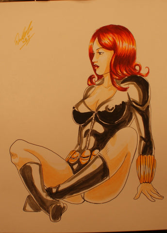 Black Widow Original Comic Art