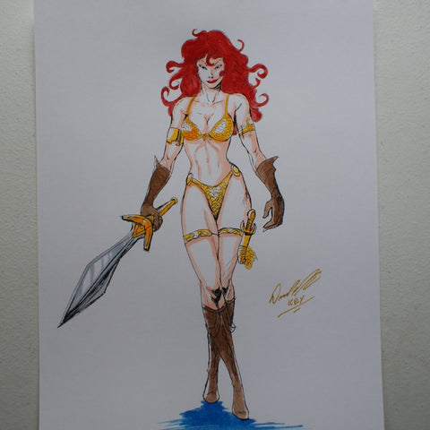 Red Sonja Original Comic Art