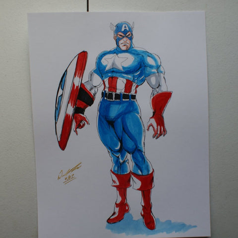 Captain America Original Comic Art