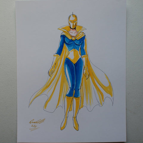 Dr Fate Linda Strauss Original Comic Art