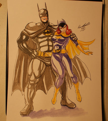 Batman and Batgirl Original Comic Art