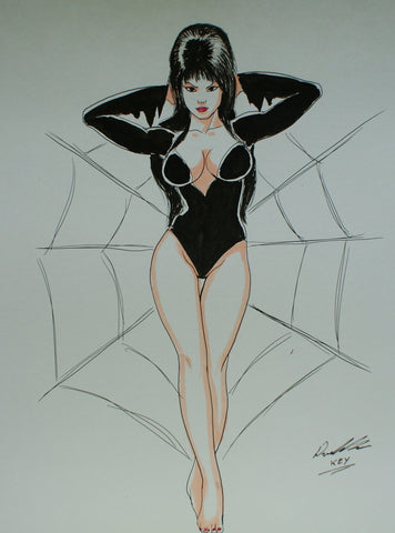 Elvira Original Comic Art