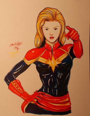 Captain Marvel Original Comic Art