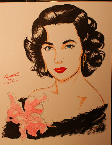 Elizabeth Taylor Original Comic Art