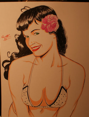 Bettie Page Original Comic Art