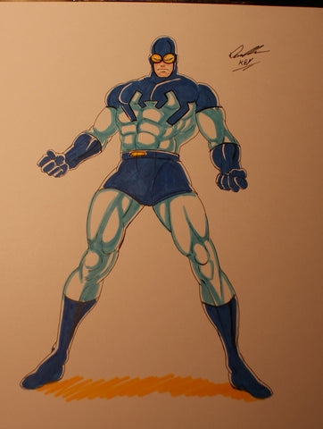 Blue Beetle Original Comic Art