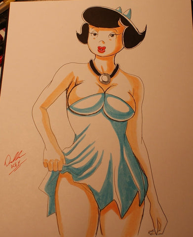 Betty Rubble Original Comic Art