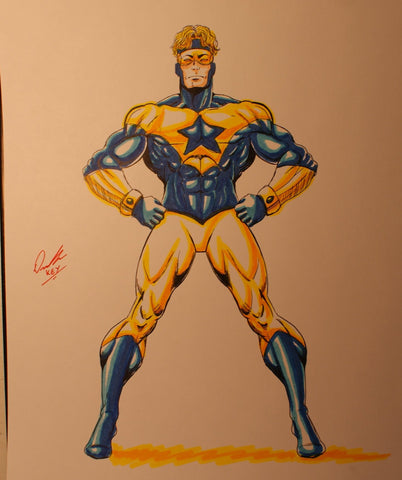 Booster Gold Original Comic Art