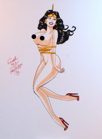 Wonder Woman Pinup Original Comic Art NDE