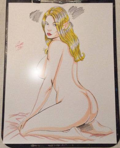 Elf Nymph Pinup Original Comic Art NDE