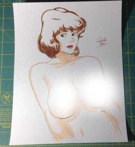 April O'Neil Pinup Original Comic Art NDE