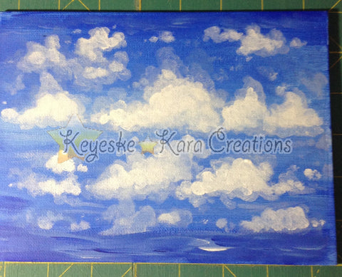 Clouds Miniature Art Original Acrylic Painting By Chykara Paintings