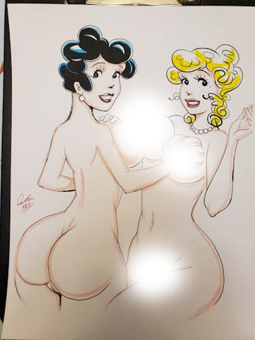 Blondie & Tootsie Pinup Original Comic Art NDE