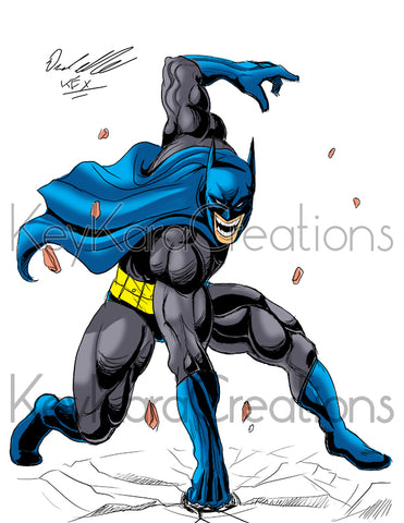 Batman Comic Art Color Print