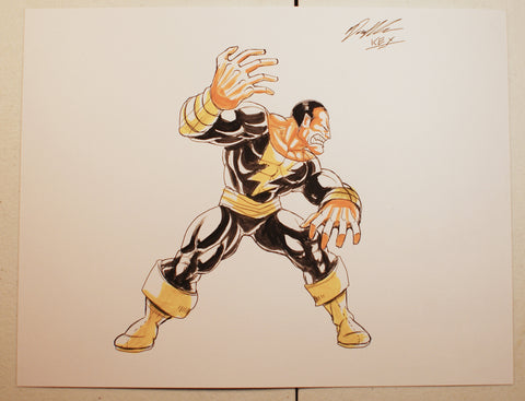 Black Adam Original Comic Art