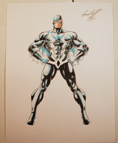 Black Bolt Original Comic Art