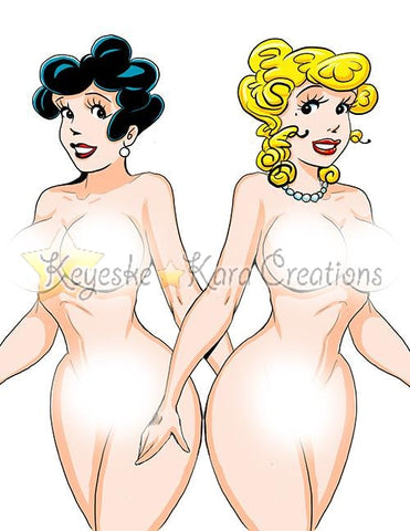 Blondie & Tootsie Pinup Comic Art Color Print Nde (Ttes1P1-4)