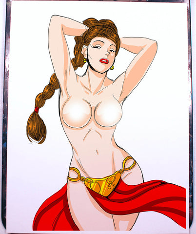 Leia Pinup Comic Art Color Print NDE