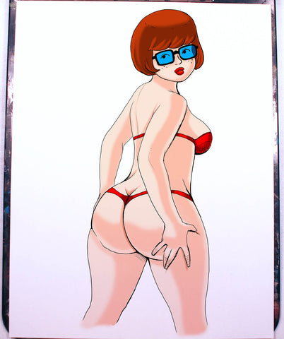 Velma Pinup Comic Art Color Print