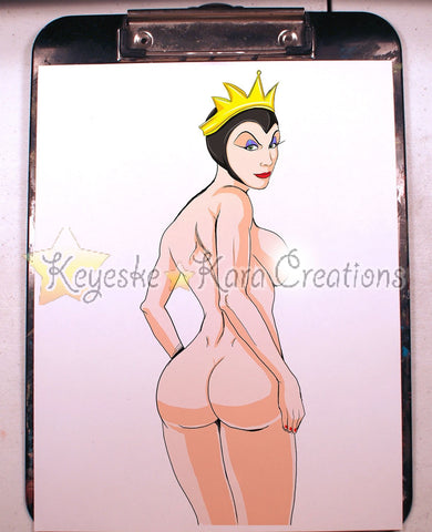 Evil Queen Pinup Comic Art Color Print Nde (Evqs1P3-4)