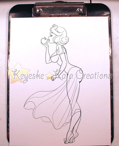Snow White Pinup Comic Art Ink Print (Snws2P38-2)