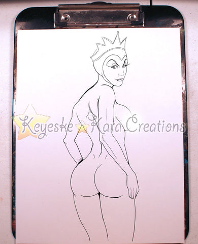 Evil Queen Pinup Comic Art Ink Print Nde (Evqs1P3)