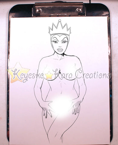 Evil Queen Pinup Comic Art Ink Print Nde (Evqs1P5)