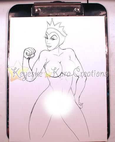 Evil Queen Pinup Comic Art Ink Print Nde (Evqs1P6)
