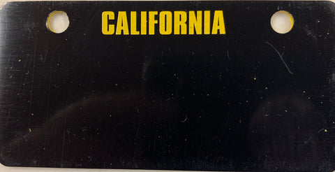 Black California Bicycle Plate
