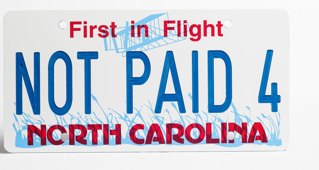 North Carolina License Plate - BLOW OUT SPECIAL - FREE STANDARD SHIPPING