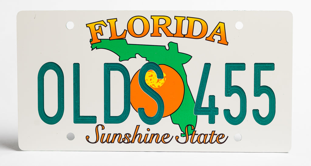 Florida Orange License Plate
