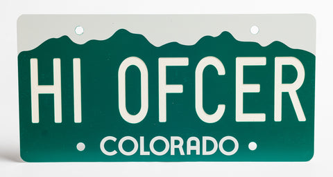 Colorado License Plate - BLOW OUT SPECIAL - FREE STANDARD SHIPPING