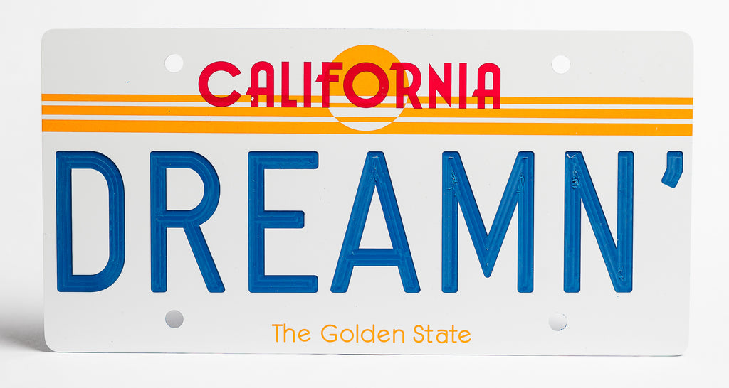California Sun License Plate